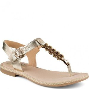 Sperry Anchor Away Sandal Leather Gold 8